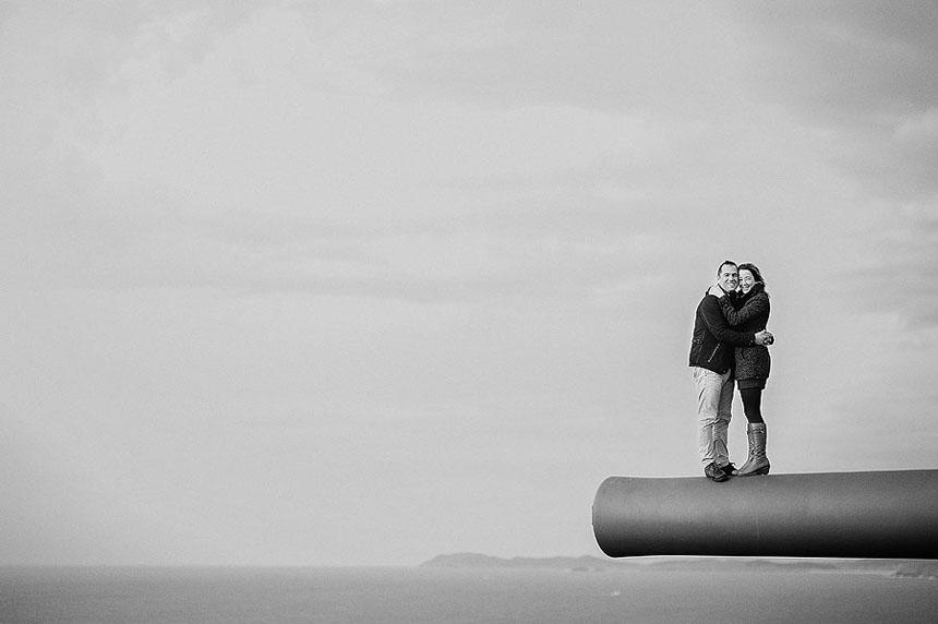 fotografías de pareja en La Coruña cerca de Ferrol